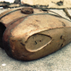 Before and After………..B.S.A. petrol tank