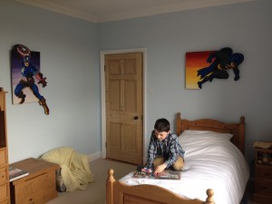 The young man who previously had dinosaurs on his wall has now reached double figures and has opted for something more in keeping with a man of his advancing years!